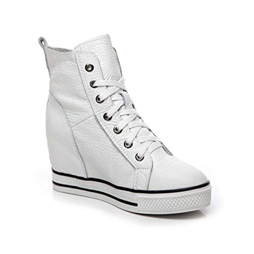 de Altos Altura Tacones Aumentado Bombas Plataforma Mujeres Cuero tal cu Genuino Encaje Zapatos Zapatos as xwqIXgHz