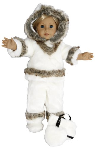 Eskimo Outfit for 18 Inch Dolls Like American Girl, Baby & Kids Zone