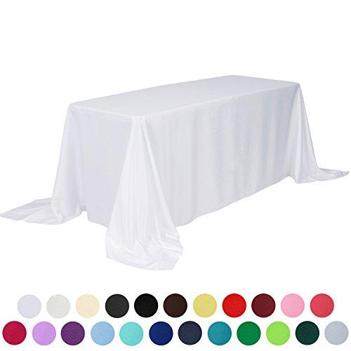 VEEYOO Rectangular Polyester Restaurant Tablecloth