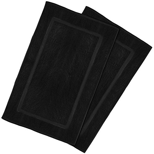 Utopia Towels 21-Inch-by-34-Inch Luxury Hotel-Spa Tub-Shower Bath Mat Floor Mat, 2 Pack, 100 Percent Ringspun Cotton, Luxury Size, Maximum Absorbency, Machine Washable, Black by Utopia Towels (Image #8)