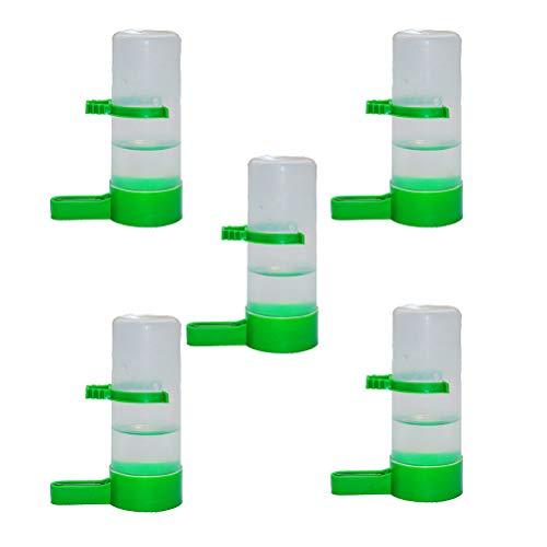 Yardwe Bebederos para Aves Automático Alimentador de Agua para Pájaros Pigeon 5 Piezas