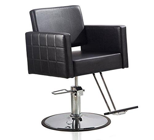 (ColdBeauty Beauty Salon Equipment Styling Station New Hydraulic Barber Chair (Round base))