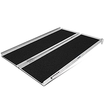 "Titan Ramps 4' x 30"" Non-Skid Aluminum Briefcase Traction Ramp Folding Portable"