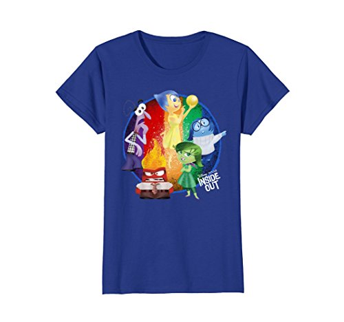 Womens Disney Inside Out Riley's Emotions Graphic T-Shirt Large Royal (Inside Out T-shirt)