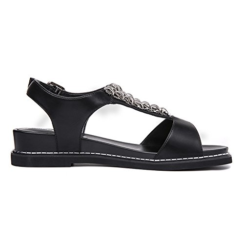 Piatto 39 Donna Scarpe Summer Da Nuovo Diamante Scarpe Le Thirty Black KHSKX eight Casual Fondo 0q4wFx