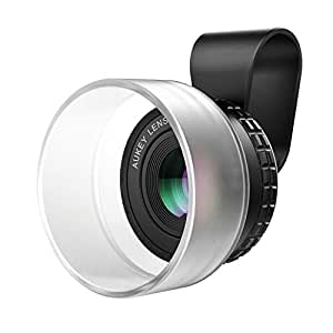 AUKEY Ora iPhone Camera Lens, 10X Macro Lens with Hood, Clip-on Cell Phone iPhone Lens for iPhone 8/7, 6s, 6 Plus, Samsung, Android Smartphones