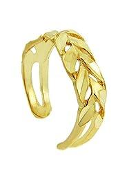 Diamand Cut Yellow gold Toe Ring (10K Gold)