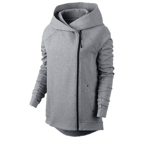 Nike Tech Fleece Cape (Carbon Heather/Black, Small)