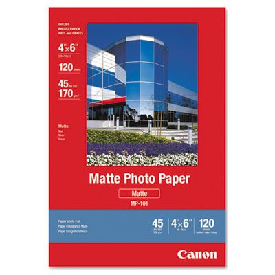 Matte Photo Paper, 4 x 6, 45 lb., White, 120 Sheets/Pack, Sold as 120 Each