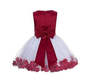 Amazon.com: Wedding Pageant Rose Petals Flower Girl Dress ... - photo #26