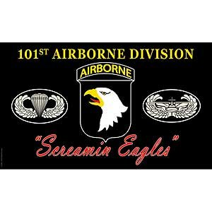 Flag Army 101st AirBorne Screa Poly 3ft X 5ft