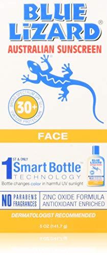 Blue Lizard Australian Sunscreen - Face Sunscreen SPF 30+ Broad Spectrum UVA/UVB Protection,5 oz (Titanium Sunscreen)