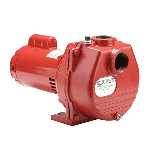 Stain Red Pool (Red Lion RLSP-200 Self-Priming High Capacity Sprinkler Pump, Cast Iron Pump, 2-HP 80-GPM)