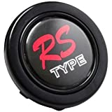 "Horn Button - RS TYPE Racing Badge Style Logo 2"" Universal Steering Wheel Horn Button"