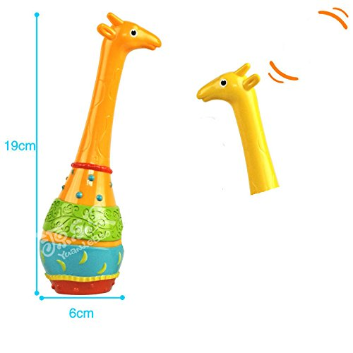 Yingealy Educational Toy ABS Puzzle Giraffe Sand hHammer Rattles Early Childhood Baby Toys (Orange) by Yingealy (Image #1)