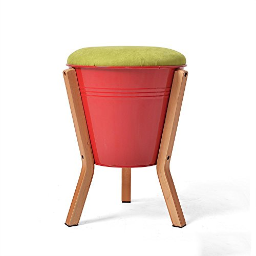 HOMEE Sofa stool- change shoe stool simple modern low stool storage stool fashion creative small stool storage solid wood stool bench (color optional) (30 43cm) --storage stool,1#,C by HOMEE