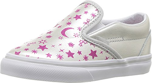 Vans Toddler's Classic Slip-On (Star Glitter) Microchip/Glitter First Walkers Shoes (5.5 M US (Vans Slip Ons Girls)