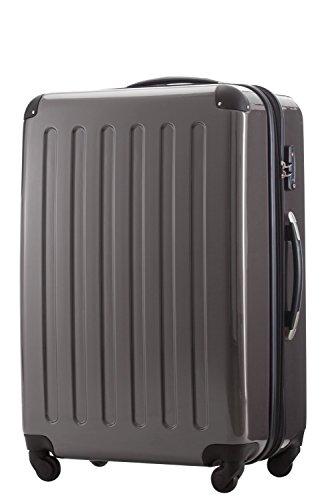 HAUPTSTADTKOFFER® Hartschalen Koffer · 3 Koffergrößen (45 Liter · 87 Liter · 130 Liter) · Hochglanz · Entweder mit Normalen oder TSA Zahlenschloss · TITAN (130 Liter)