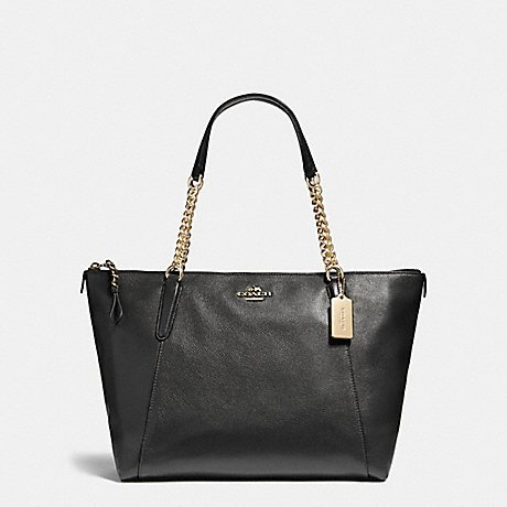 COACH AVA CHAIN TOTE F22211, LIGHT GOLD/BLACK