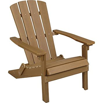 Folding Composite Adirondack Chair   Brown