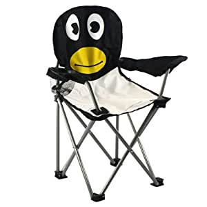 Zizzi - Niños infantil plegable animales sillas mesa portátil camping playa jardín pesca shopmonk (penguin)