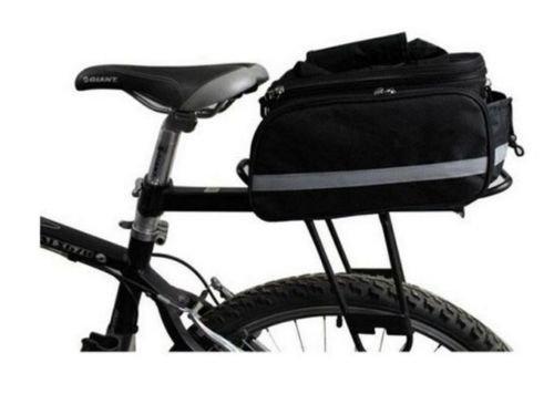 Rack Pack Tasche Radfahren Bike Travel hinten Rahmen Seat Gepäckträger Fahrrad Tasche Beutel Schwarz