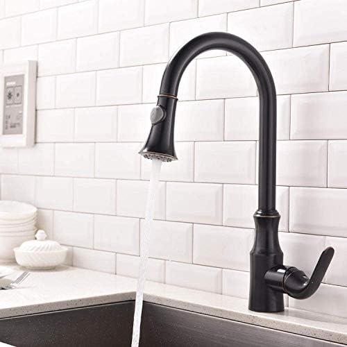 Zxyan 蛇口 立体水栓 バスルームのシンクは、スロット付き浴室の洗面台のシンクホットコールドタップミキサー流域の真鍮シンクミキサータップ非震とう浴室蛇口アンティーク銅キッチン温水と冷水の蛇口をタップ トイレ/キッチン用