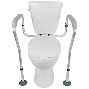 Vive Toilet Rail U2013 Bathroom Safety Frame U2013 Medical Railing Helper For  Elderly, Handicap, Disabled, Seniors U2013 Bariatric Assist Handrail Grab Bar U2013  Adjustable ...