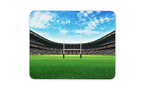 Rugby Pitch RFC Stadium Mouse Mat Pad - Sports Fan Try Field Goal Gift ()