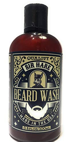 Oil Oily Hair Normalizing Shampoo - Beard Shampoo and Wash by Sir Hare | Natural Beard Products- Plant Based- Best Wash to Gently Cleanse Your Beard | Large 8 oz Bottle