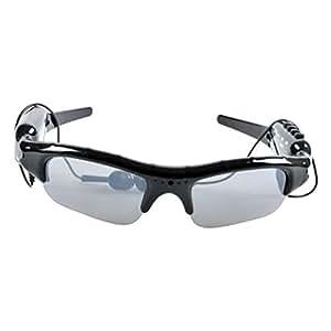 VORCOOL Gafas de Sol con Auriculares Inalámbricos Bluetooth Música para Bicicleta Excursionista (Negro)