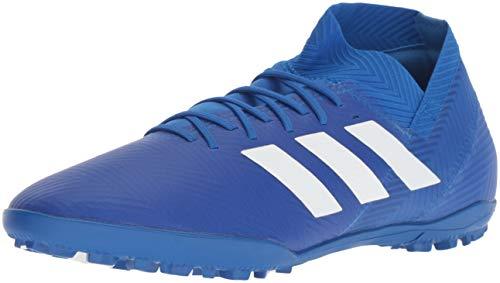 adidas Men's Nemeziz Tango 18.3 Turf Soccer Shoe, White/Football Blue, 8 M - Soccer For Men White Shoes
