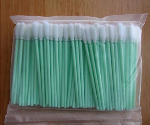 Yoton 500 pcs Clean Room Foam Cleanfoam Cleanroom Swab Swabs - ESD Safe Green Plastic Handle (in Stock)