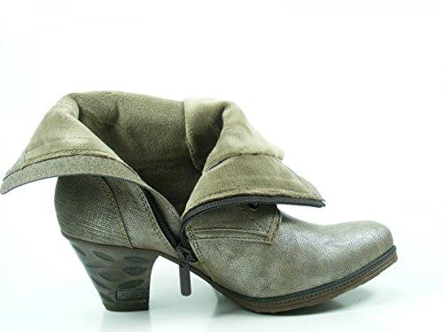 Mustang Schnürstiefelette in Femininer Form Altsilber