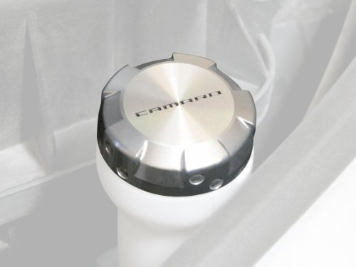 Drake Muscle Cars CA-120006-BL Clear Anodized Billet Washer Reservoir Cap for Chevrolet Camaro ()