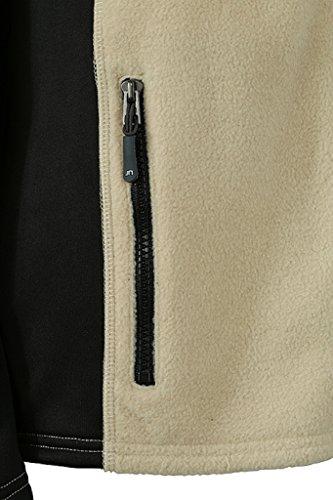Femme amp; Polaire Tissu noir Durable pierre NICHOLSON Veste JAMES en Mixte qACEwxO