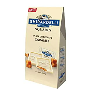 Ghirardeli White Chocolate Caramel Squares Candy, 5 Oz