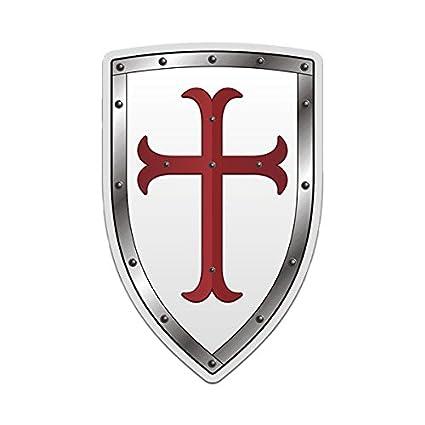 Amazon 1080gphx Knights Templar White Shield Decal Red Crusader