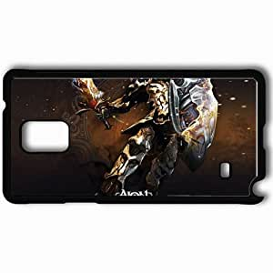 Personalized Samsung Note 4 Cell phone Case/Cover Skin Aion The Tower Of Eternity Man Axe Wings Look Armor Black by lolosakes