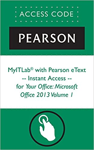 Amazon myitlab with pearson etext instant access for myitlab with pearson etext instant access for your office microsoft office 2013 volume 1 1st edition kindle edition fandeluxe Images