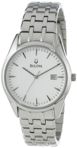 Bulova Men's 96B119 Bracelet Silver White Dial Watch