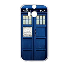 Doctor Who blue police box Cell Phone Case for HTC One M8