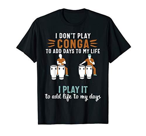 12.5' Conga Drum Head - Conga drum t-shirt Cuba Music tumbadora Drummer gift