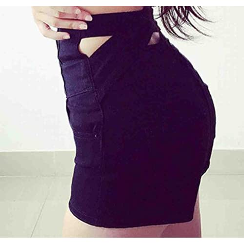 SYTX Womens Juniors Sexy Hot Shorts High Waist Jeans Shorts chic ... bafa8789ec9b7