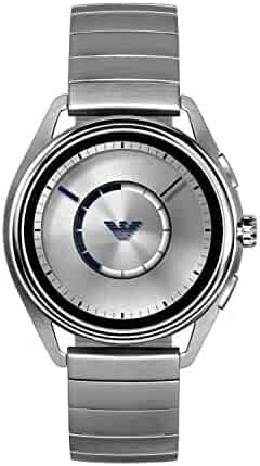 Emporio Armani Men's Stainless Steel Plated Touchscreen Smartwatch, Color: Silver-Tone (Model: ART5006)