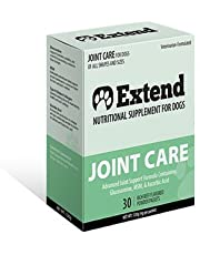 Extend - Joint Care for Dogs - 1 Month Supply - Glucosamine for Dogs with MSM & Ascorbic Acid - Pure Grade Ingredients