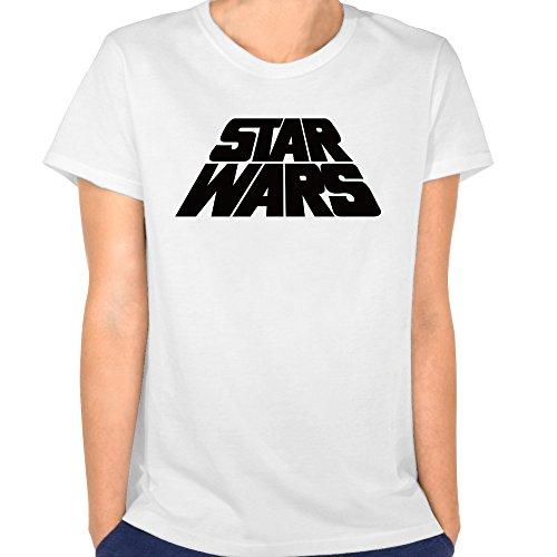 Tjame Women's Film Classic Black Forward Star Wars Logo Tshirt XXL White