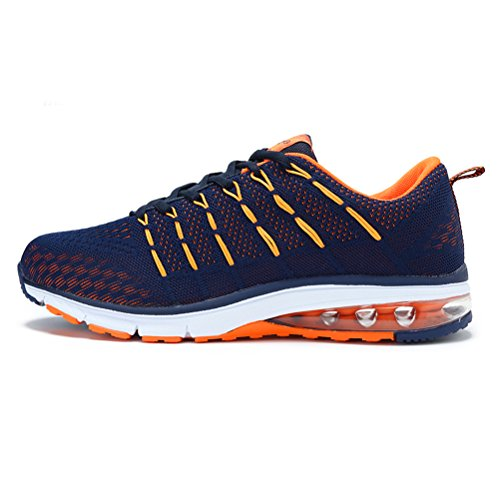 Running Shoes Sneakers for Men Mens Fashion Sports Outdoor Air Cushion Athletic Shoes Trainer Shoe Blue Orange