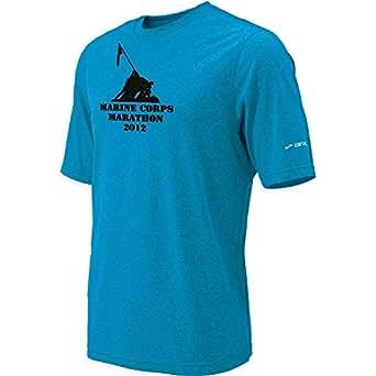 Brooks Marine Corps Marathon Training T-Shirt Mens Atlantic Blue (X-Large)
