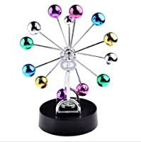 URToys Edcational Colorful Ferris Wheel Electronic Revolving Balance Balls Magnetic Perpetual Motion Crafts Office Desk Home Decor Best New Year Gift